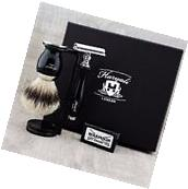 Classic 5 Piece Shaving Set |DE Safety & SilverTip Badger