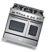 """Verona Classic VCLFSGE365DSS 36"""" Pro-Style Dual-Fuel Gas"""