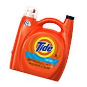 "TIDE ""HE"" CLEAN BREEZE LAUNDRY DETERGENT 150 FL OZ JUG."