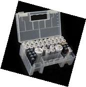 Clear Plastic Battery Organizer Case Holder Box Container