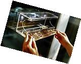 Clear Window Mount Bird Feeder with Sliding Drawer Seed