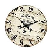 """10"""" Clock Decor Vintage Rustic Shabby Chic Style Wooden"""