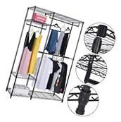 "48""x18""x71"" Closet Organizer Garment Rack Portable Clothes"