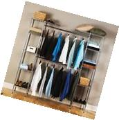 "68"" Organizer Closet Storage Rack Clothes Portable Wardrobe"