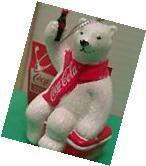COCA COLA Christmas Ornament Polar Bear On Cooler Kurt Adler