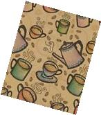 COFFEE BEAN GIFT WRAPPING PAPER -Two 6 Ft Sheets