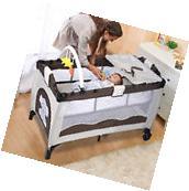 New Coffee Baby Crib Playpen Playard Pack Travel Infant