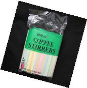 "500ct COFFEE STIRRER BAR STRAW 5"" SIPPER COCKTAIL MILK TEA"