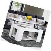 Coffee Table Lift-Top Storage Shelves Wood Living Room