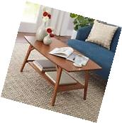 Coffee Table With Storage And End Tables Pecan Sturdy Living