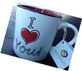 "Large 21 oz. ""I Love You"" Coffee Tea Mug Cup White with Red"