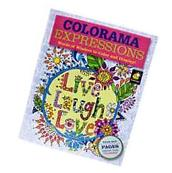 Colorama Expressions Coloring Book Words Of Wisdom Display
