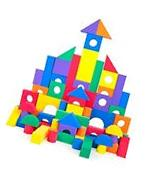 100 PC Colorful Waterproof Foam Building Blocks for Children