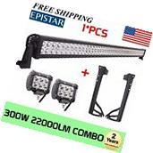 "52"" 300W Combo LED Light Bar+2X4"" 18W Lights+Mount Brackets"