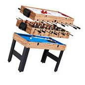 """MD Sports Combo Table 48"""" 3-In-1 Multi-Game Slide Hockey"""