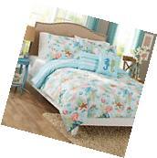 5 Pc Comforter Bedding Set PEACH Beach Theme Printed, FULL/