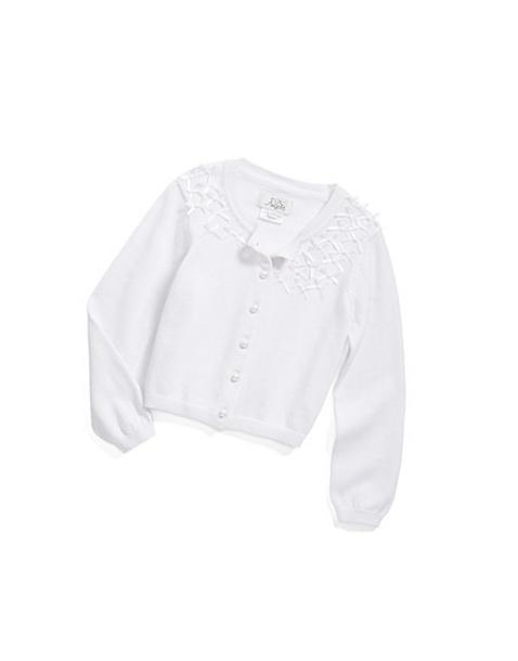 Girl's Us Angels Communion Cardigan Sweater, Size 10-12 -