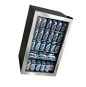 Compact 118 Can Stainless Steel Beverage Center, Glass Door