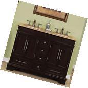 "48"" Compact Travertine Countertop Bathroom Vanity Small"