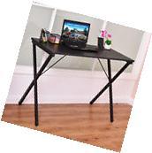 Computer Desk Wood Metal PC Laptop Table Writing Study