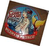 CONEY ISLAND BREWING COMPANY Mermaid Pils METAL TACKER SIGN