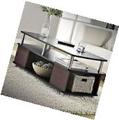 CONTEMPORARY COFFEE TABLE CHERRY BLACK LIVING ROOM FURNITURE