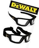 Dewalt Converter Clear Anti Fog Lenses Padded Safety Glasses