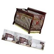 Baby Nursery Furniture Set Convertible 5-In-1 Fixed-Side