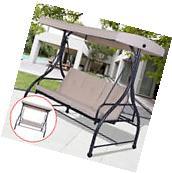 Converting Outdoor Swing Canopy Hammock 3 Seats Patio Deck