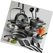 Cooking Non Stick Pots and Pans & Lids 18 Piece Cookware Set