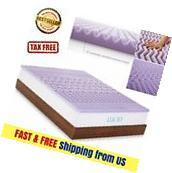 "Cooling Gel Foam Mattress Topper Pad Bed Queen Size 2"""