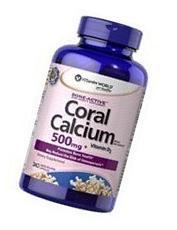 Vitamin World Coral Calcium 500mg + D3 & Magnesium, 240