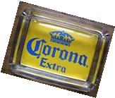 Corona Beer Card & Glass Ashtray  Key , Ring , Change or