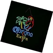 New Corona Extra Parrot Beer Real Glass Handmade Neon Sign