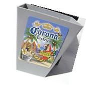 Corona Mexican Beer Card / Bottle Opener & Cap Catcher NIB