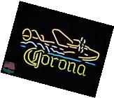 "Corona Seaplane Beer Pub Bar Neon Sign 20""x16"" From USA"
