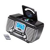 Crosley Corsair Alarm Clock Radio W/ CD Player - Black CR612