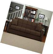 Couch Sofa Sleeper Brown Convertible Full Size Bed Furniture