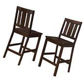 Counter Height Chairs Set Of 2 Bar Stools Solid Wood Dining