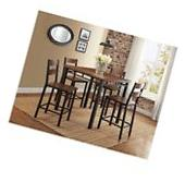 Counter Height Dining Set Mercer 5-Piece Kitchen Dining