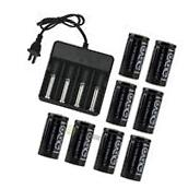 8PCS CR123A 123A CR123 16340 2000Mah Rechargeable Battery