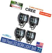 "4X 4"" 18W CREE LED WORK LIGHT BAR FLOOD PODS Cube OFFROAD"