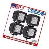 4x 3 inch CREE LED Work Light Square Flood Cube Pods Offroad