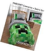 6pc MINECRAFT Creeper Full/Double COMFORTER +Pillow SHAM +