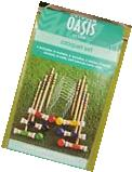 Croquet Set 6 Player Vintage Wood Outdoor Wooden Lawn Game