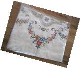 """Cross Stitch Lace Oval Tablecloth 72""""x108"""" Cotton Retail 600"""