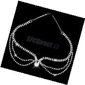Crystal Frontlet Forehead Head Chain Wedding Bridal Jewelry