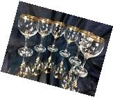 Crystal Glass Set of 6 Wine Champagne Russian Glasses 8 oz