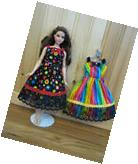 Curvy Barbie doll clothes - both handmade dresses included