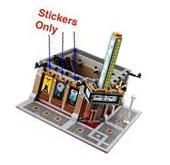 Custom stickers for LEGO 10232 Palace Cinema Batman ET Jaws